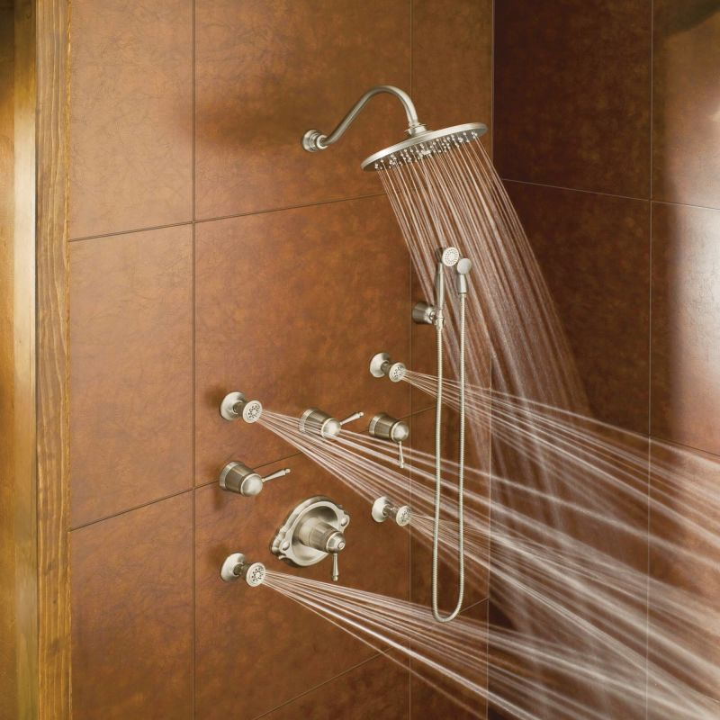 running shower system in nickel