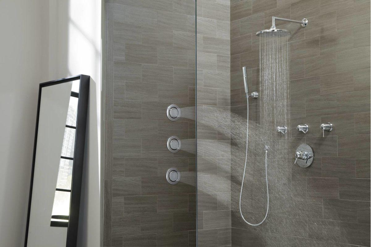 Running Shower System In Chrome