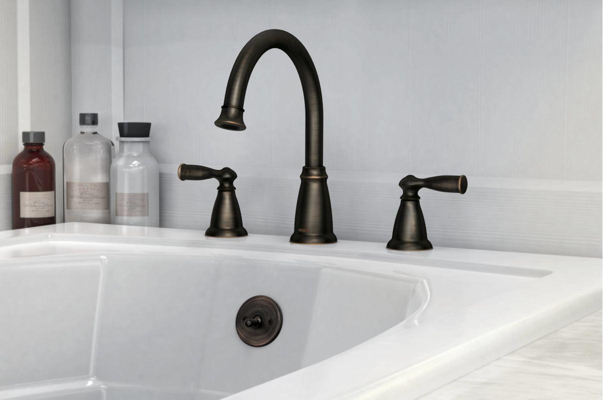 roman tub faucet in bronze