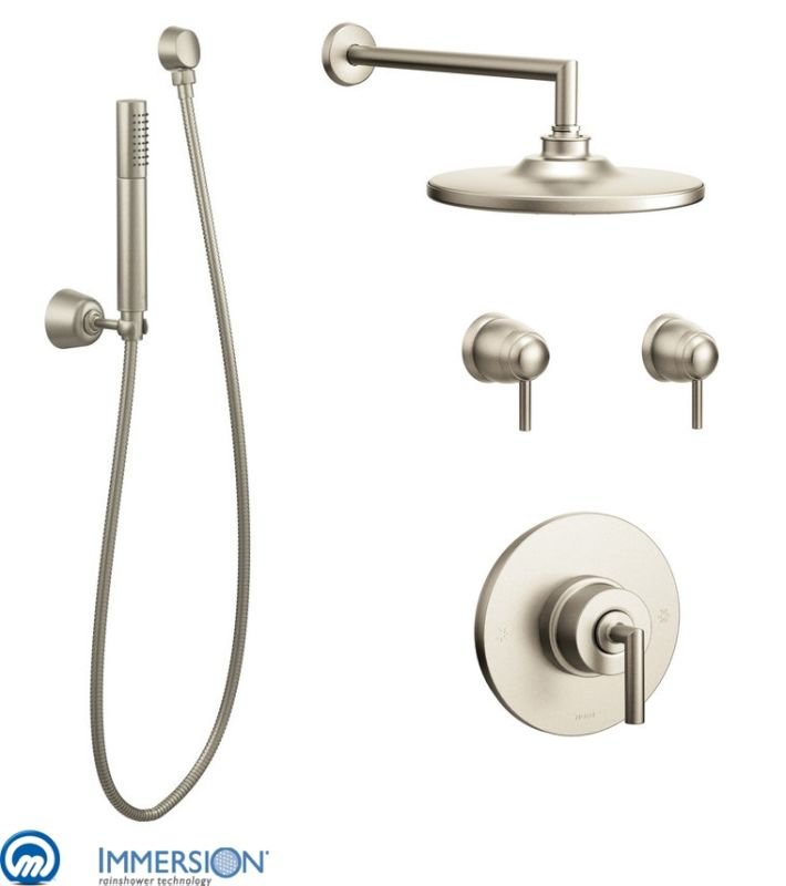 Click To View Larger Image. Hand Shower In Brushed Nickel ...