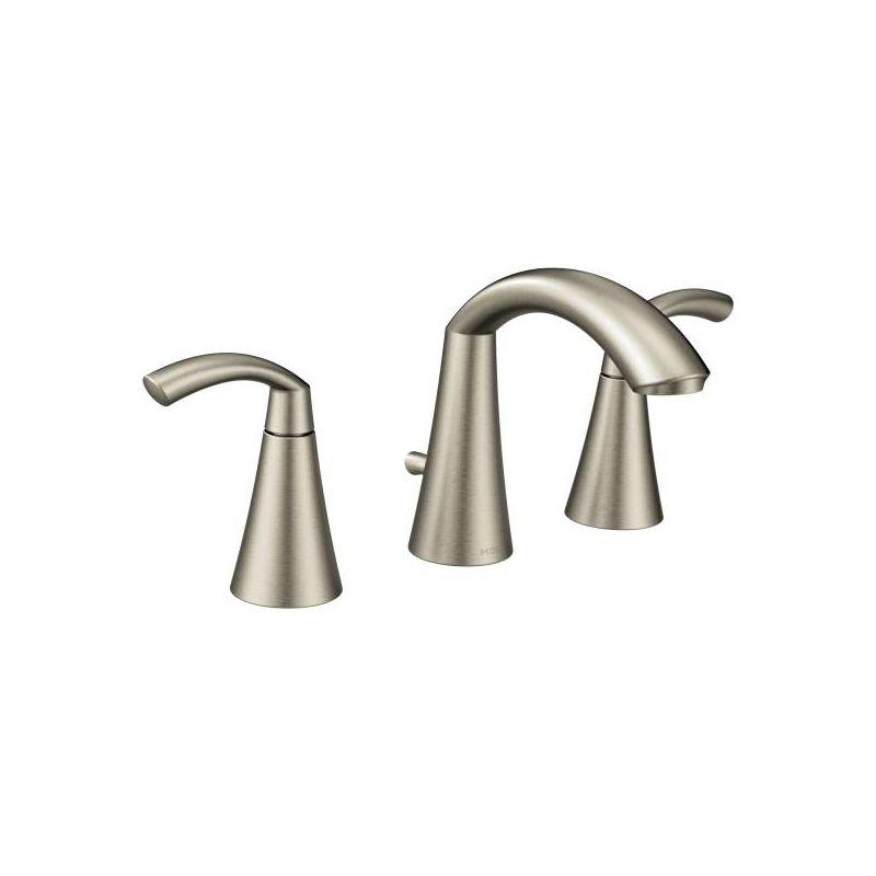 Moen T6173bn Brushed Nickel Glyde Widespread Bathroom Faucet Pop Up Drain Included