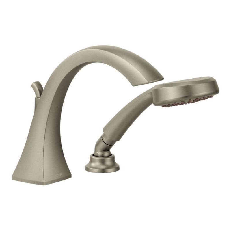 Moen Roman Tub Faucet Brushed Nickel. Click to view larger image Faucet com  T9694BN ioDIGITAL Set in Brushed Nickel by Moen