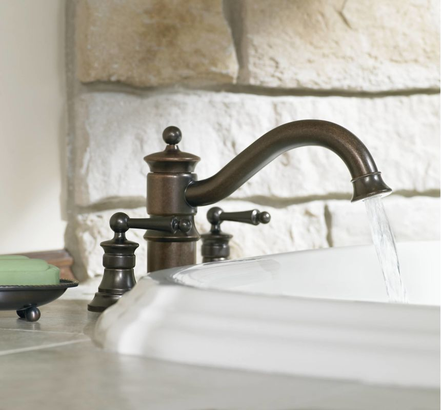 moen ts213 installed roman tub faucet in oil rubbed bronze