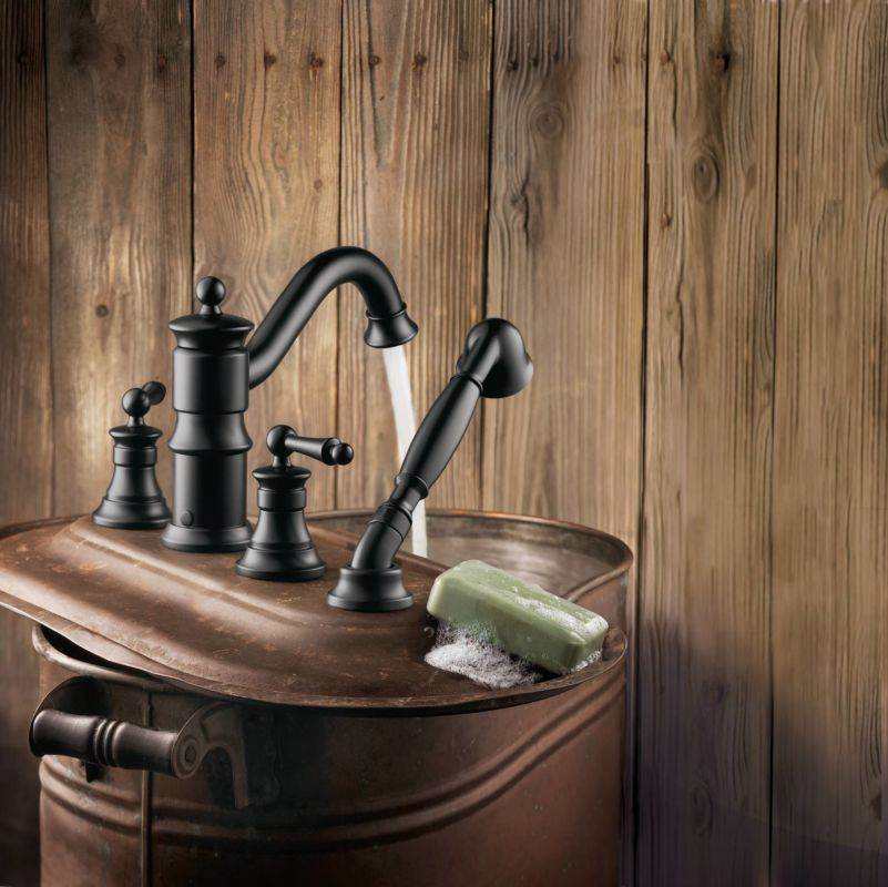 moen roman tub faucet brushed nickel.  Moen TS213 Running Roman Tub Faucet in Wrought Iron com TS213BN Brushed Nickel by