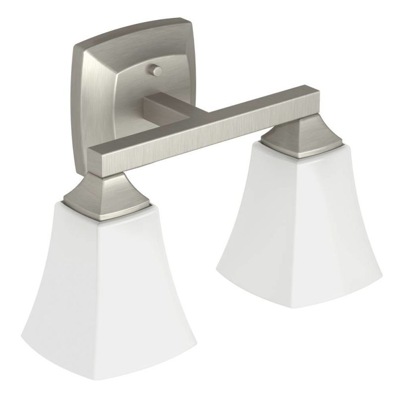 Moen Brushed Nickel Vanity Lights : Faucet.com YB5162BN in Brushed Nickel by Moen