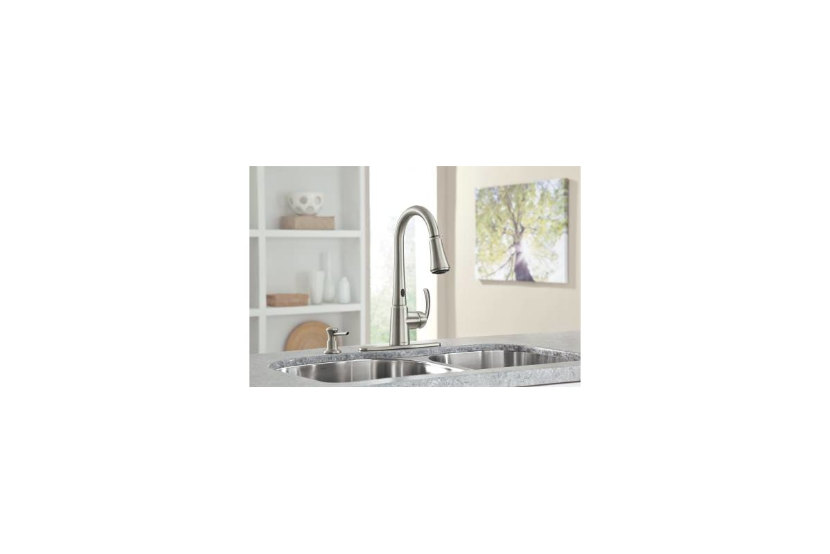 Motion Sensor Kitchen Faucet Faucetcom 87359e2srs In Spot Resist Stainless By Moen