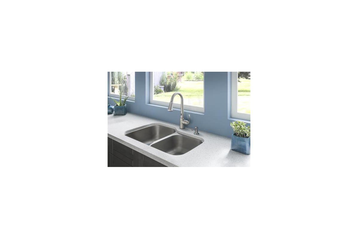 faucet com 87359e2srs in spot resist stainless by moen