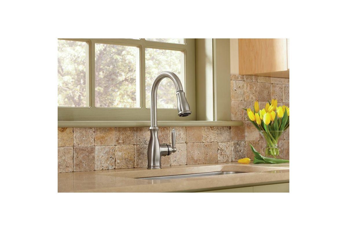 Moen Motionsense Kitchen Faucet Faucetcom 7185c In Chrome By Moen
