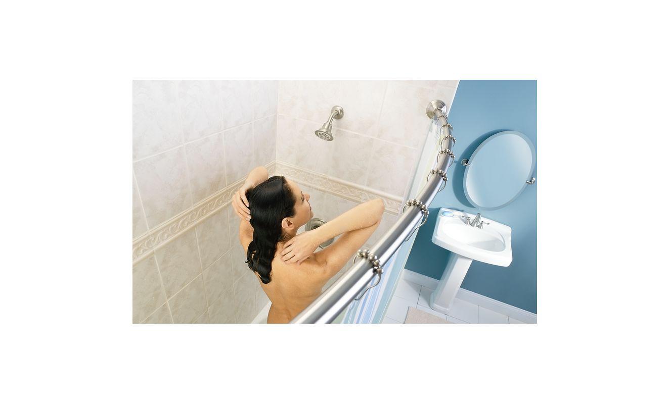 100 round shower rod clawfoot tub rustproof hoop shower rod