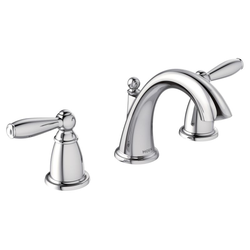 Moen T6620 Chrome Double Handle Widespread Bathroom Faucet