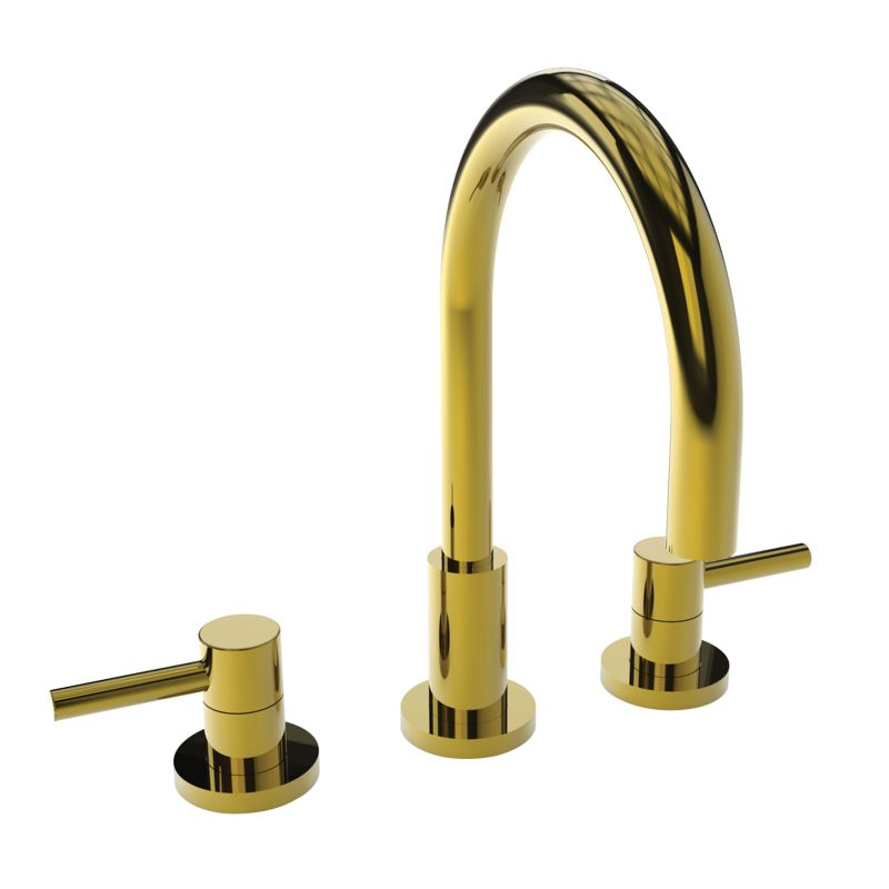 1500 03n in uncoated polished brass living by newport brass Newport brass bathroom faucets