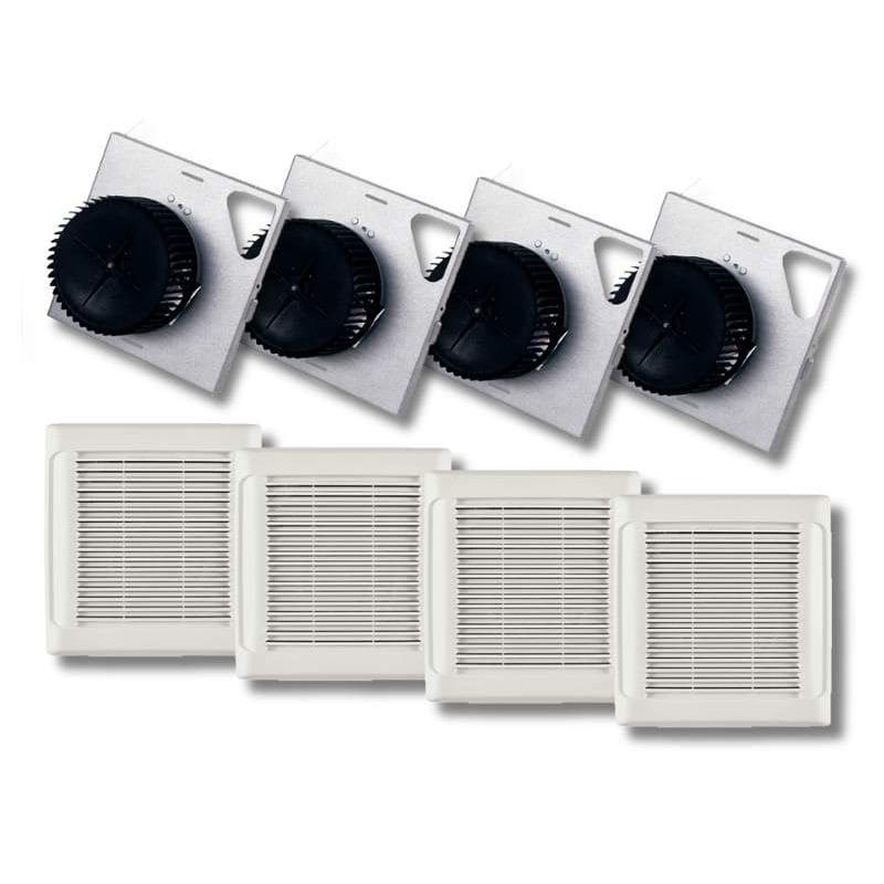 Nutone Invent Series 80 Cfm Ceiling Bathroom Exhaust Fan: NuTone AN110F White InVent Series 110 CFM 3 Sones HVI