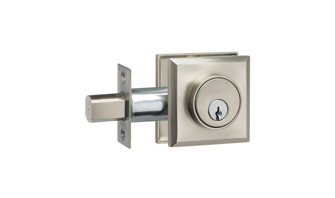 Omnia RECTDBA US15 Satin Nickel Modern Single Cylinder ...: https://www.handlesets.com/omnia-rectdb-modern-single-cylinder-deadbolt-with-rectangular-style-rose-from-the-prodigy-collection/p2154295