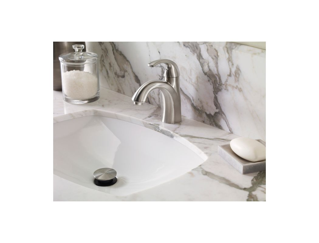 Pfister Selia Kitchen Faucet Faucetcom F 042 Slkk In Brushed Nickel By Pfister
