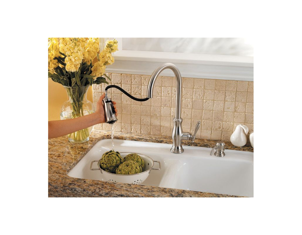 faucet com f 529 7tms in stainless steel by pfister