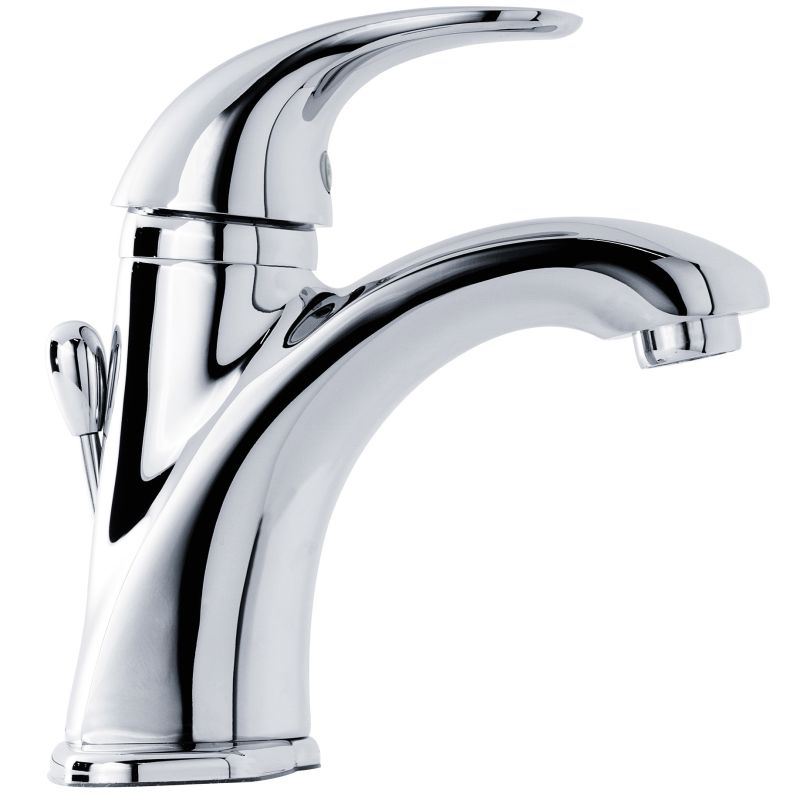 polished chrome parisa single handle deck mounted roman tub faucet