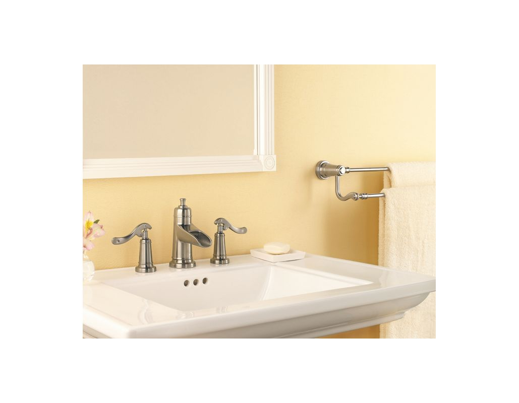 Brushed Nickel Faucet Waterfall Bathroom Spout Sink One: T49-YP1K In Brushed Nickel By Pfister