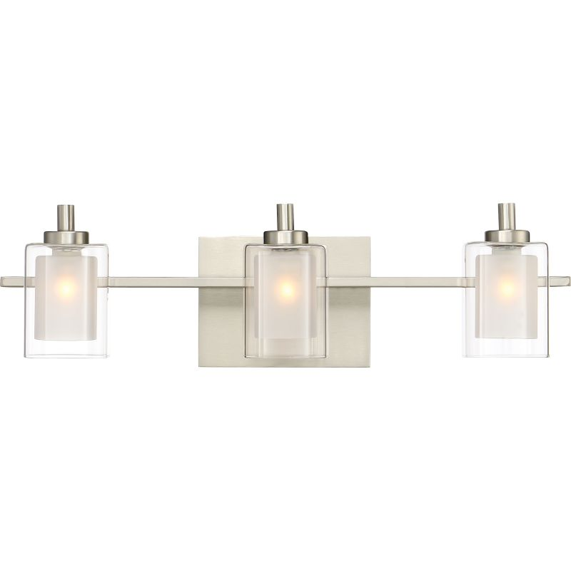 Glass Vial Vanity Light : Quoizel KLT8603BNLED Brushed Nickel Kolt 3 Light 21