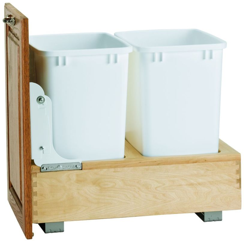 Quart trash bin pull out for 15 inch base cabinets pullsdirect com