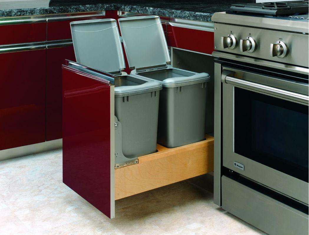 Rev a shelf 4wcbm 18dm 2 metallic silver 4wcbm bottom - Kitchen trash container ...
