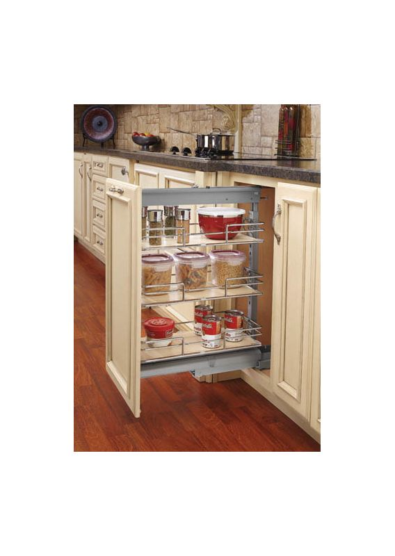 kitchen cabinet slide out rev a shelf 5773 04 cr chrome 5700 series 4 quot wide by 74 5773