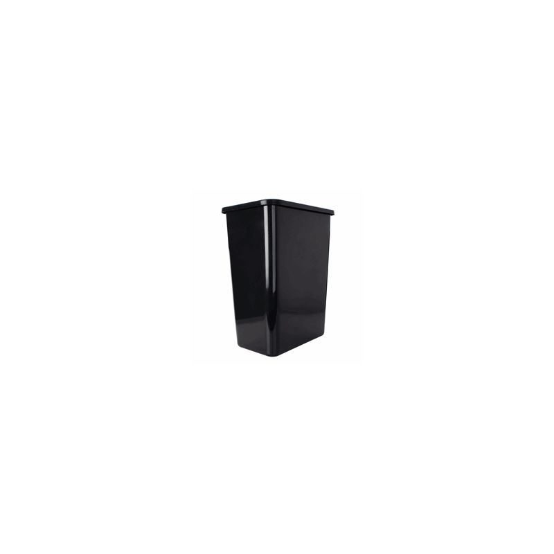 rev a shelf rv 35 18 52 black rv series single bin replacement trash can 35 quart capacity. Black Bedroom Furniture Sets. Home Design Ideas