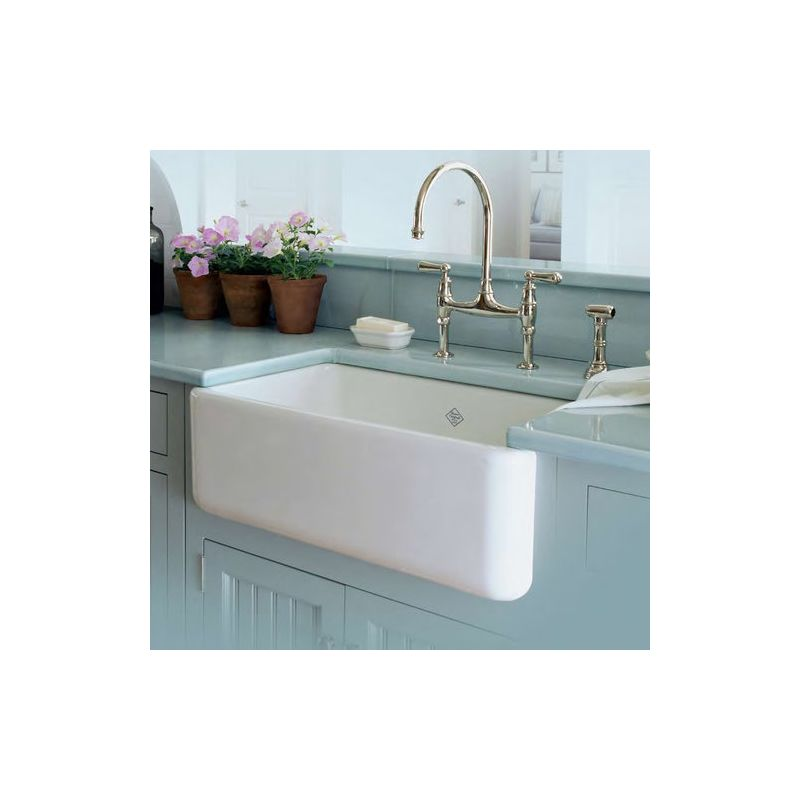 Fs30 Single Bowl Fireclay Farmer Sink: RC3018WH In White By Rohl