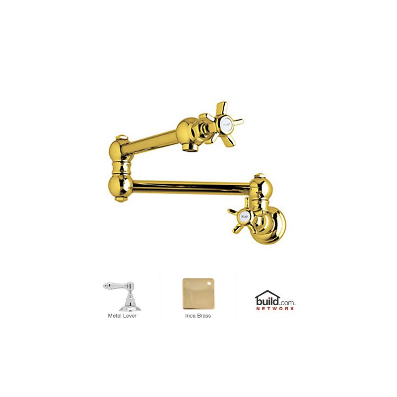 Rohl A1451lmib 2 Inca Brass Country Kitchen Wall Mounted