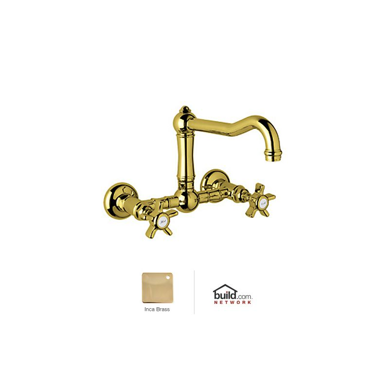 Rohl A1456xib 2 Inca Brass Country Kitchen Wall Mounted
