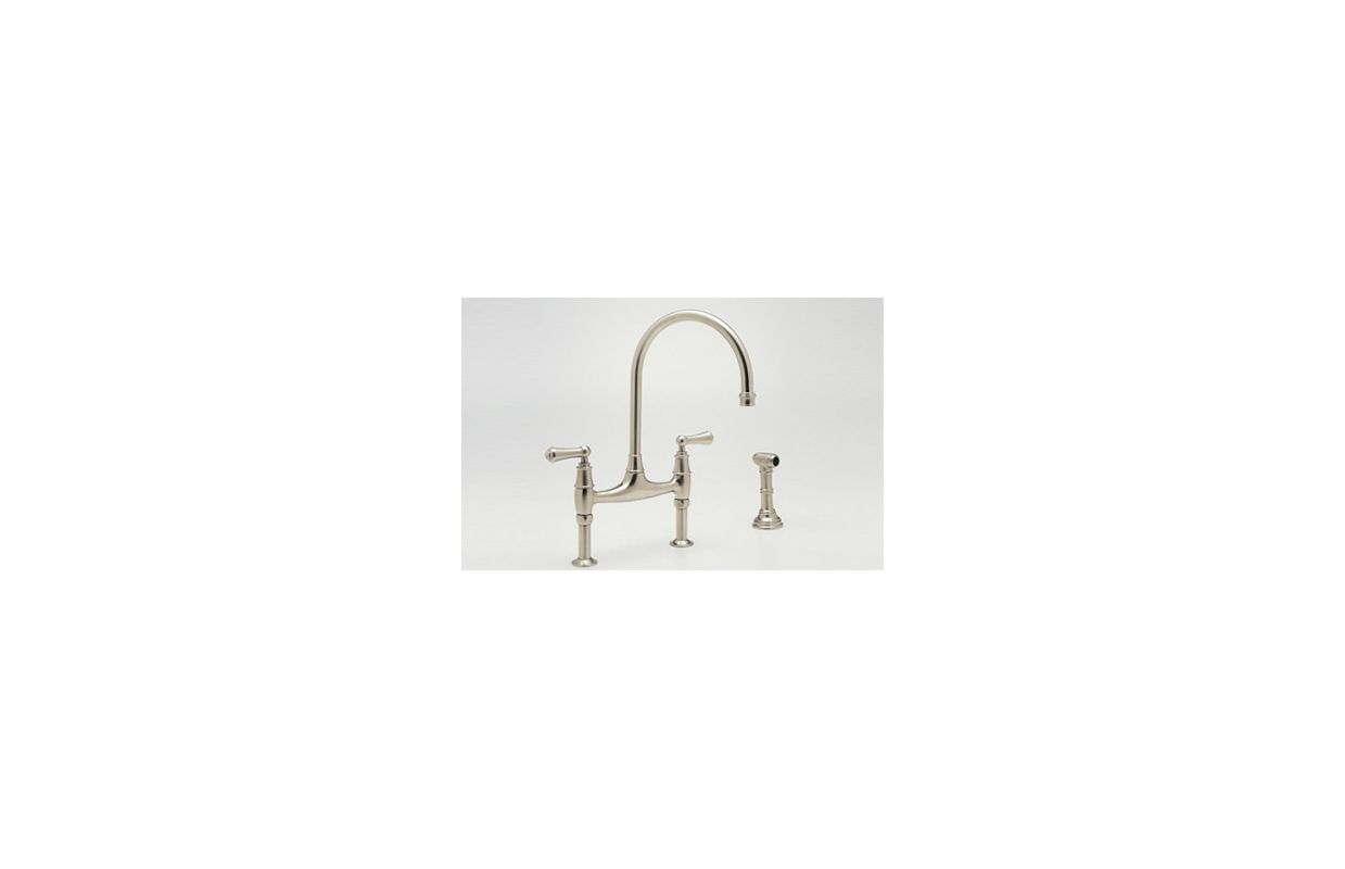 Perrin And Rowe Kitchen Faucet Faucetcom U4719l Pn 2 In Polished Nickel By Rohl