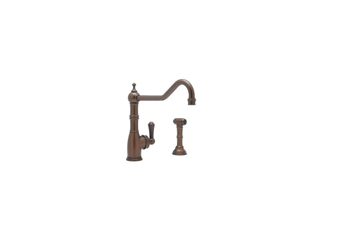 Rohl Kitchen Faucets Reviews Faucetcom U4747eb 2 In English Bronze By Rohl