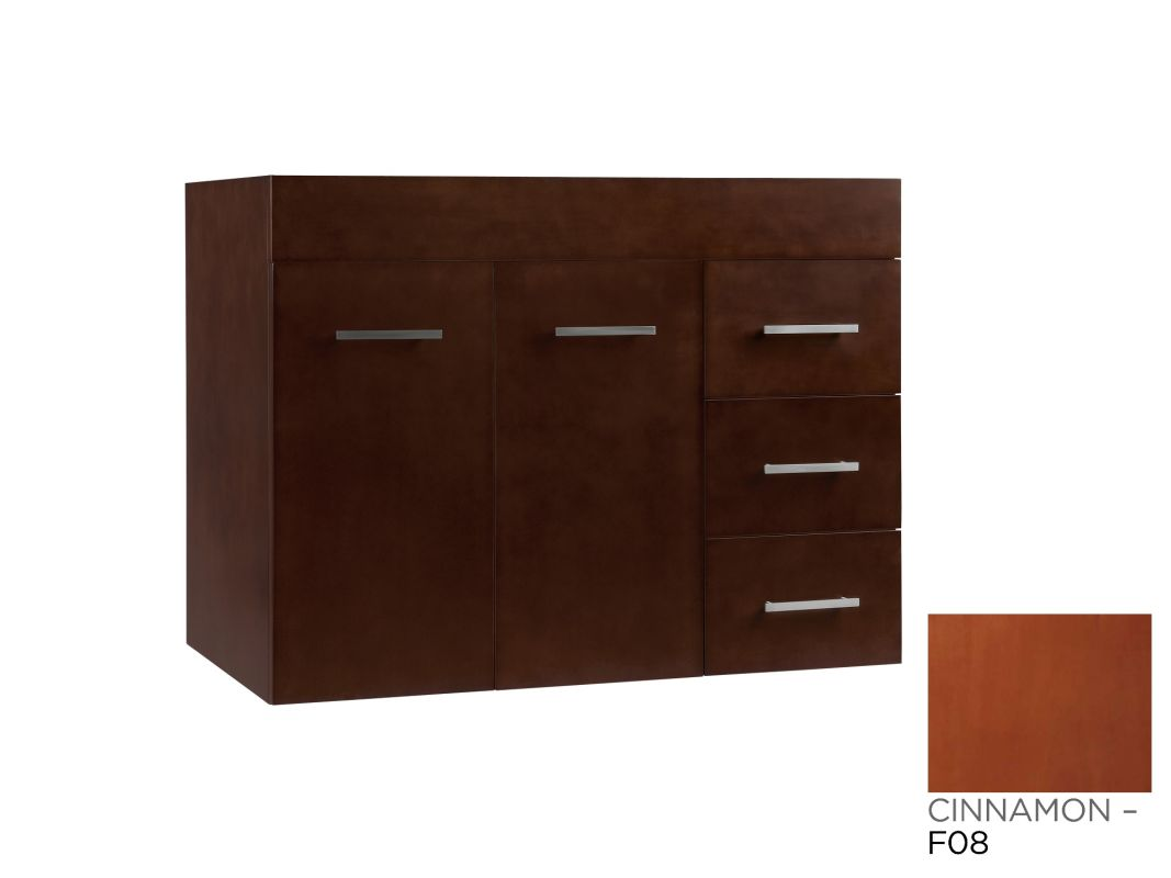 011236 l f08 in cinnamon by ronbow for Wall mounted bathroom vanity cabinet only