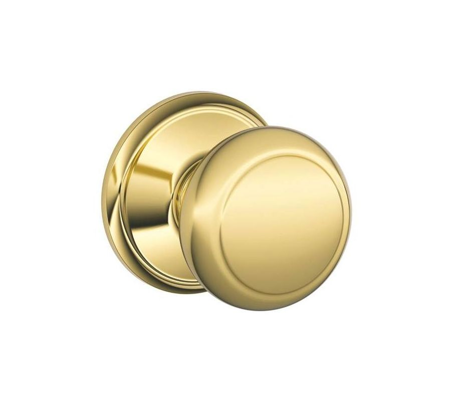 Schlage F10and505 Lifetime Polished Brass Andover Passage