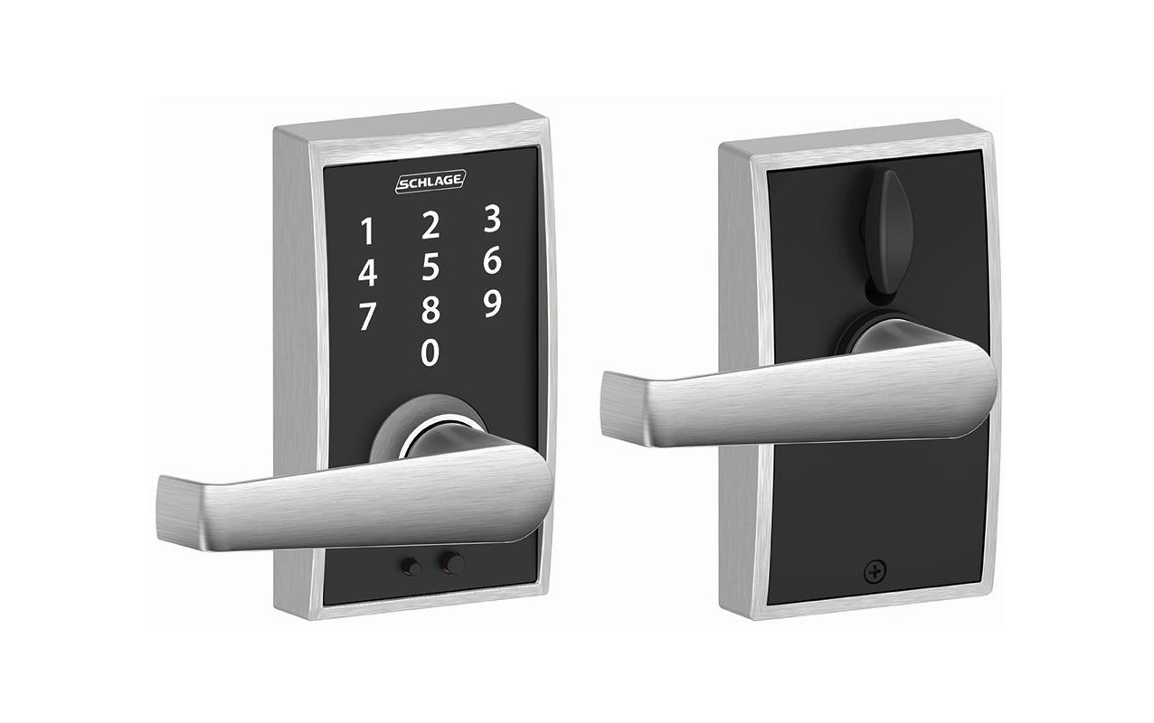 Schlage Fe695cen626ela Satin Chrome Century Touch Entry