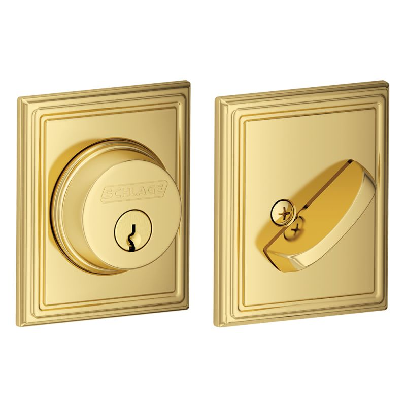 Schlage B60add605 Polished Brass Single Cylinder Grade 1