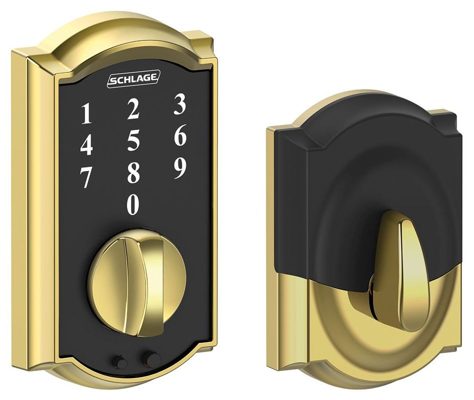 Schlage Be375cam605 Bright Brass Camelot Touch Deadbolt