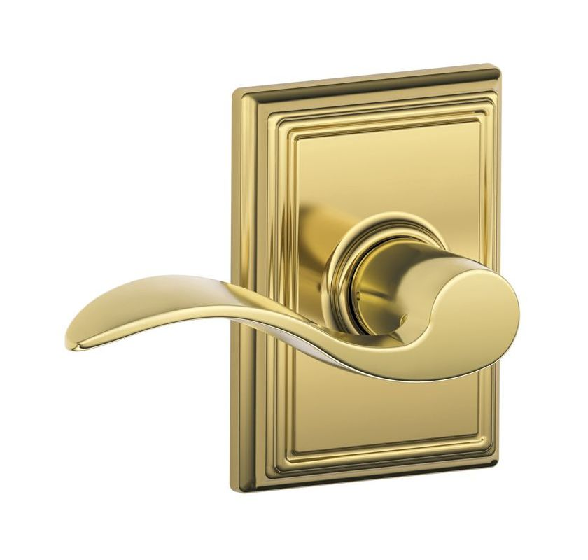 Schlage F10acc505add Lifetime Polished Brass Passage