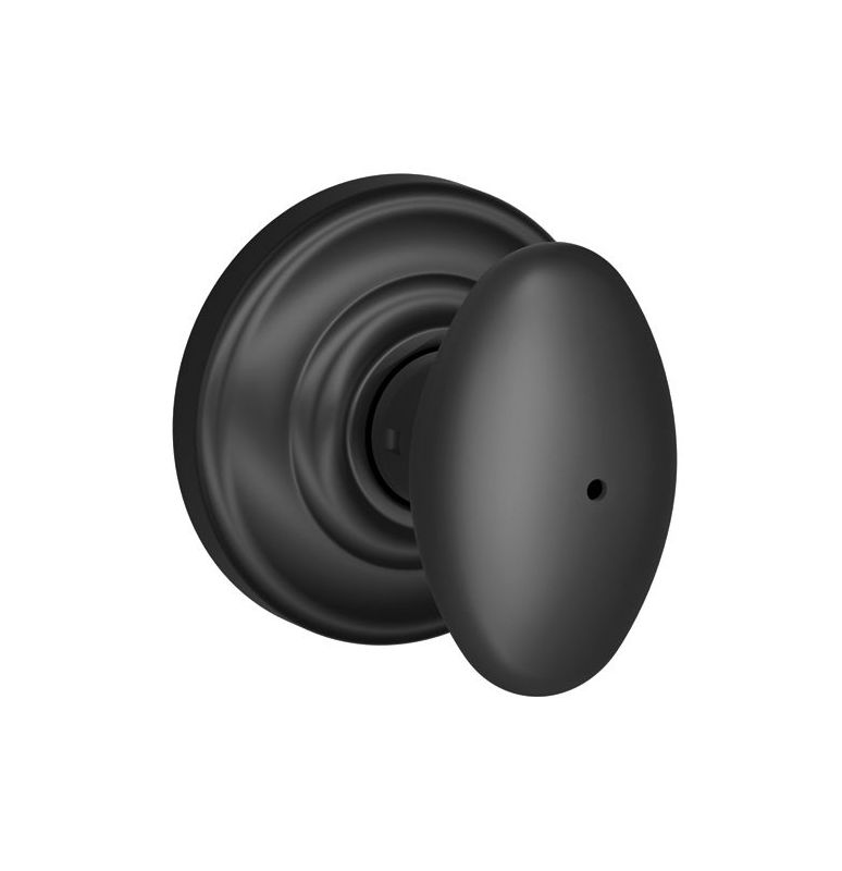 Schlage F40sie622and Matte Black Siena Privacy Door Knob