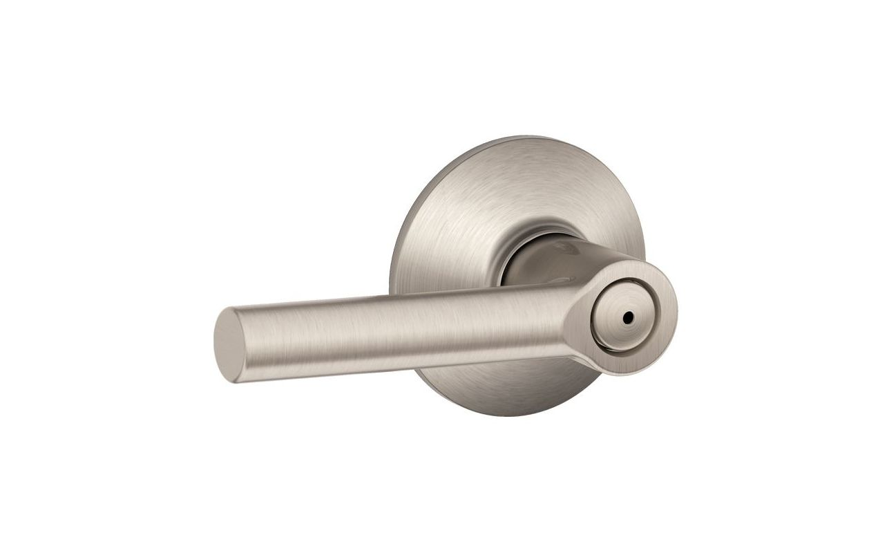 Schlage F40brw619 Satin Nickel Broadway Privacy Door Lever