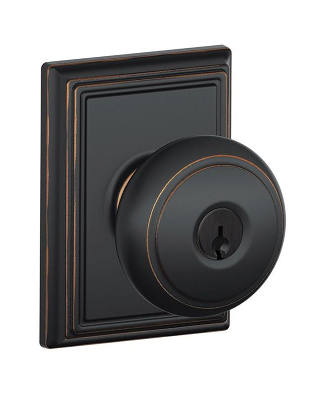 Schlage F51aand716add Aged Bronze Andover Keyed Entry F51a