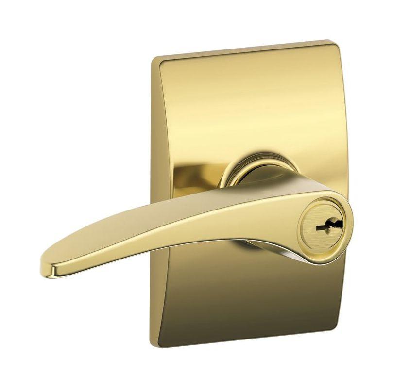 Schlage F51mnh505cen Lifetime Polished Brass Keyed Entry