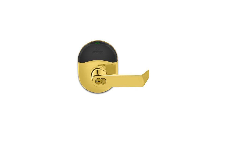 Schlage Nde80bdrho605 Bright Brass Rhodes Electronic