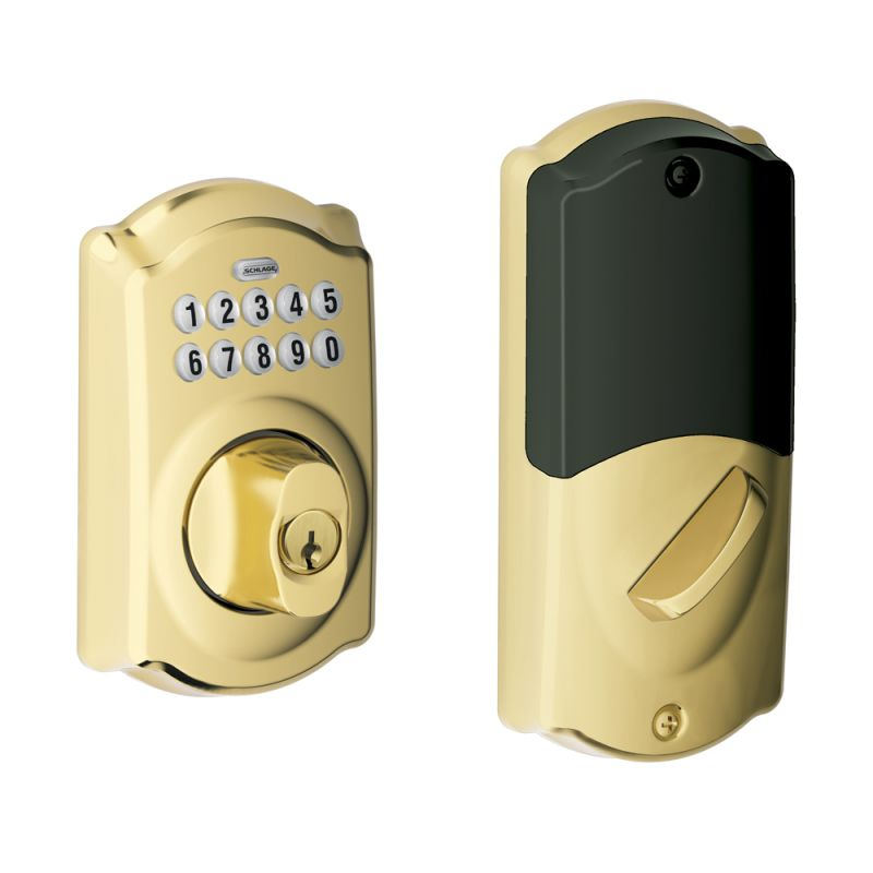 Schlage Be369nxcam505 Lifetime Polished Brass Camelot