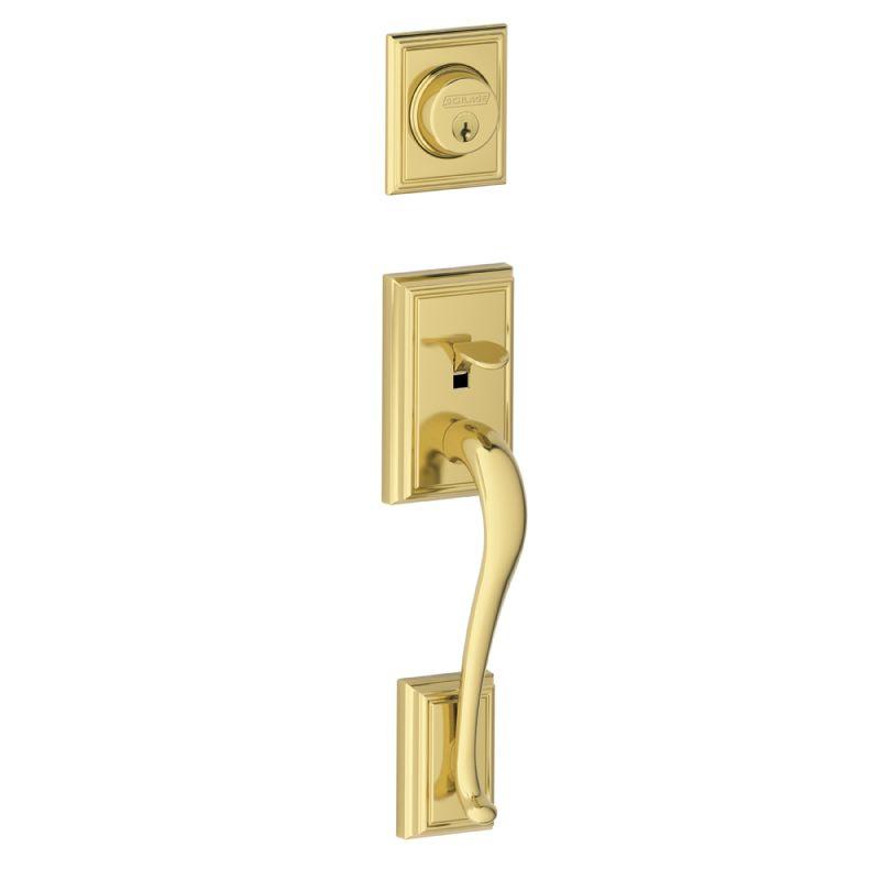 Schlage F58add505 Lifetime Polished Brass Addison Single