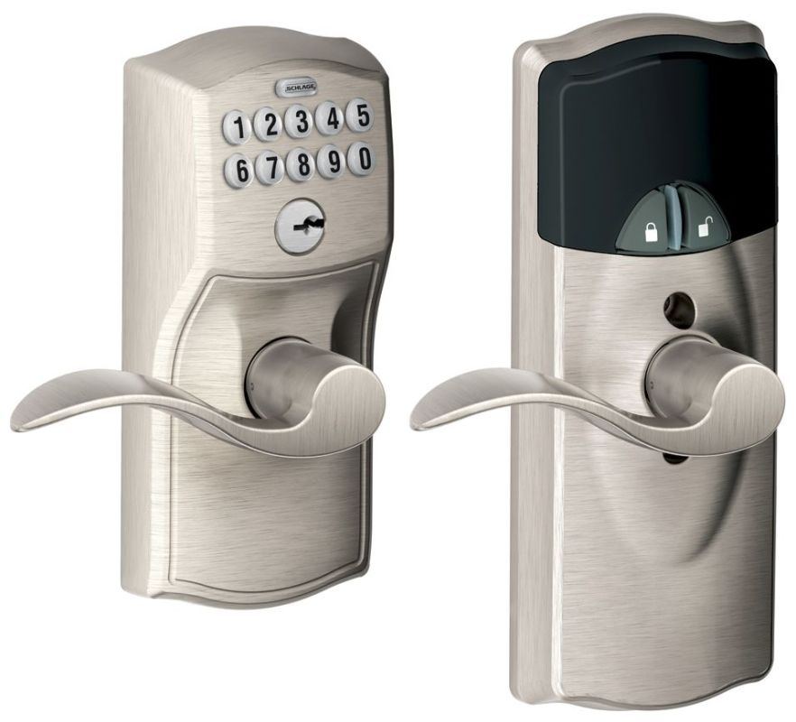 Schlage Fe599nxcam619acc Satin Nickel Home Keypad Lever
