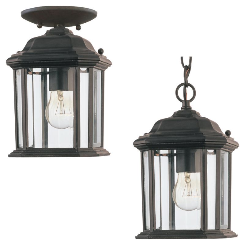 Sea Gull Lighting 60029 12 Black Kent 1 Light Outdoor