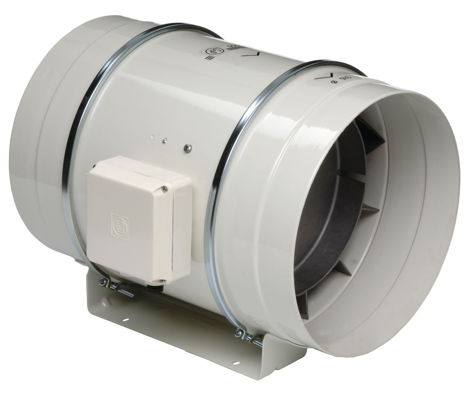 High Flow Bathroom Exhaust Fan: Soler And Palau TD-250 Off-White Metal W/Epoxy Coating 10