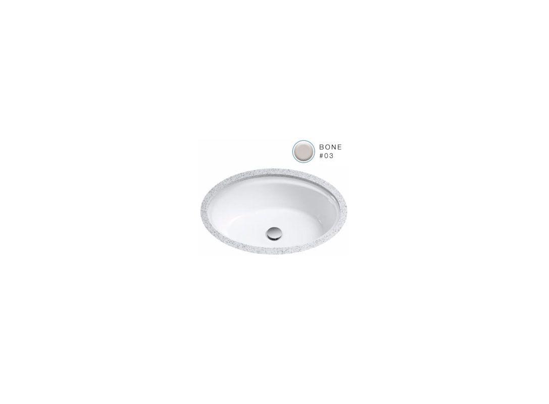 Toto Lt641 03 Bone Dartmouth 18 3 4 Quot Undermount Bathroom Sink With Overflow