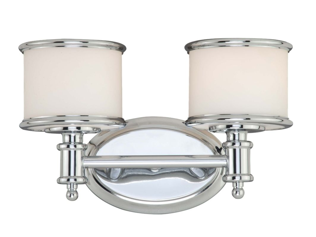Large Bathroom Vanity Lights : Vaxcel Lighting CR-VLU002CH Chrome Carlisle 2 Light Bathroom Vanity Light - 13 Inches Wide ...