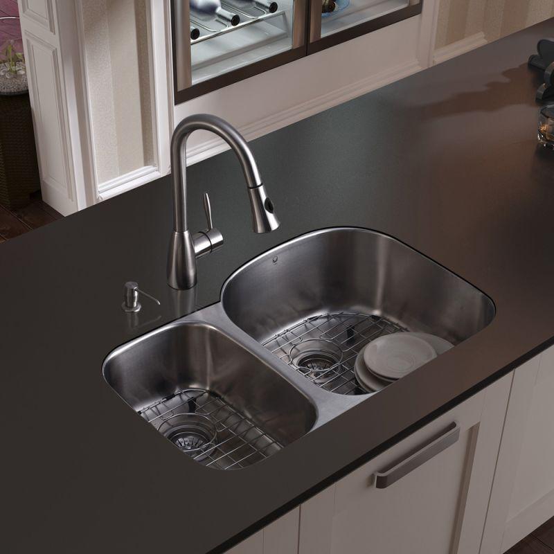 Black Kitchen Sink For Sale: VG15043 In Stainless Steel By Vigo